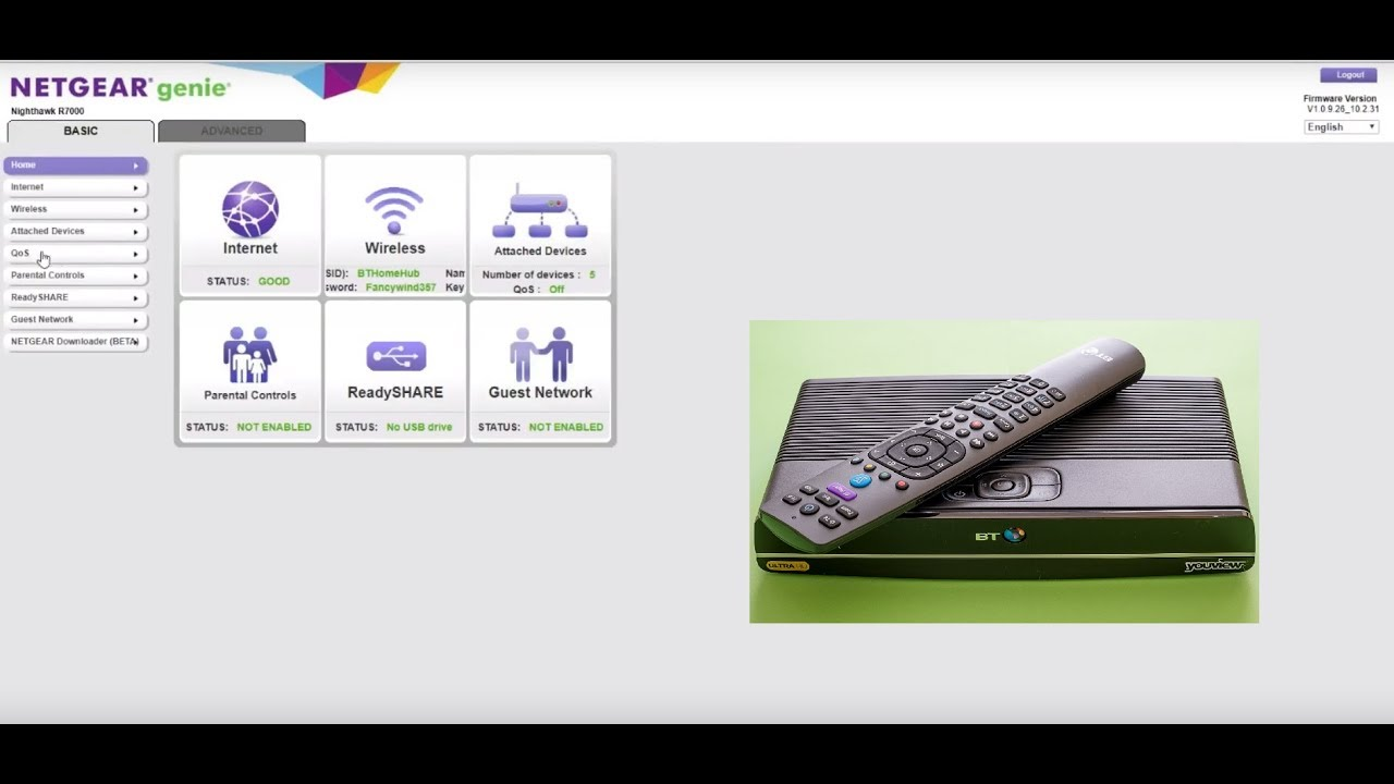 How to use BT TV with Third Party Router (NETGEAR R7000)