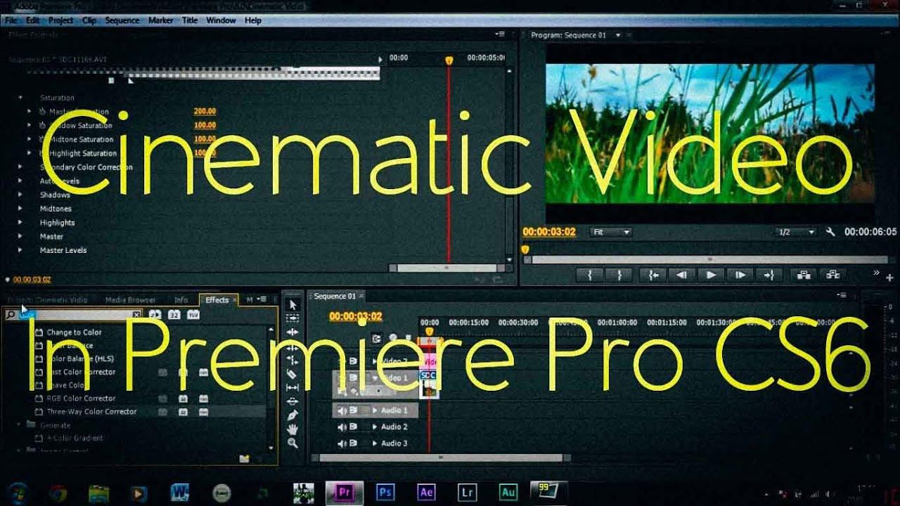 Cinematic Film Look With Adobe Premiere Pro Cs6 Test Youtube - Www