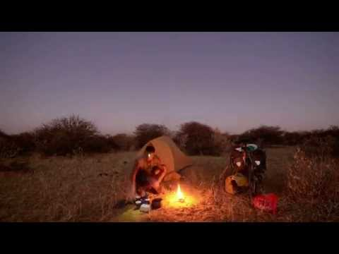 Camping in the Angolan bush