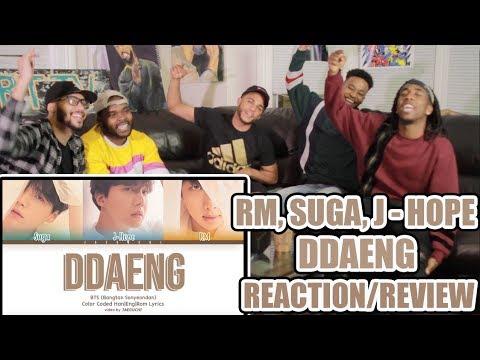 BTS RM, SUGA, J-HOPE - DDAENG (땡) (DISS) REACTION/REVIEW