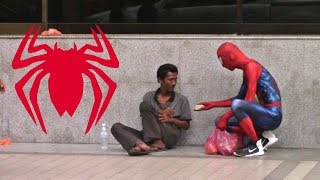 SPIDER MAN HELPING THE HOMELESS 2017 thumbnail