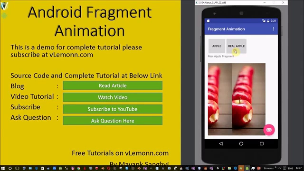 Android Animate Fragment Using Custom Animation