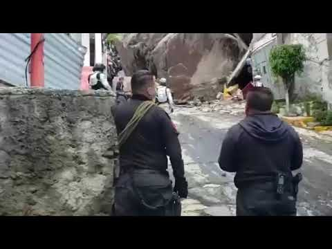 Derrumbe en el cerro del Chiquihuite