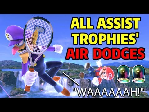 All Assist Trophies Air Dodges in Super Smash Bros Ultimate & Knuckles