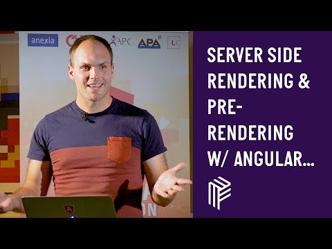 Thumbnail for Angular Vienna, Server Side Rendering and Pre Rendering with Angular Universal, July 2019