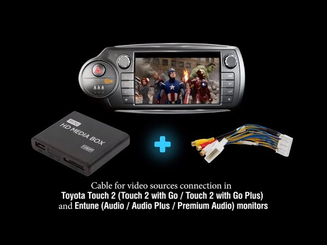 how to connect video in toyota touch 2