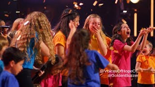 Voices Of Hope Children's Choir Get GOLDEN BUZZER From Ken Jeong