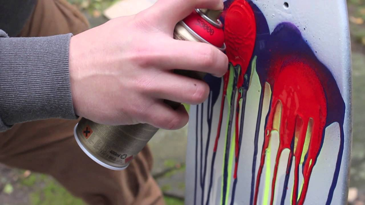 Extreme Colour Splash Longboard Painting Or How To Paint
