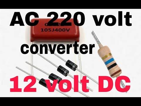 ac to dc converter without transformer ( In hindi 100% working )