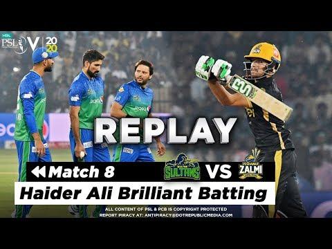 Haider Ali Brilliant Batting | Peshawar Zalmi vs Multan Sultans | Match 8 | HBL PSL 2020