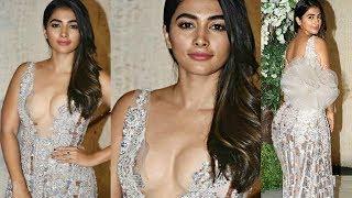 Pooja Hegde Looks Stunning In Full 0PEN Dress At Manish Malhotra Party 2019