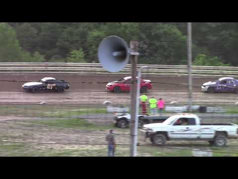 Hummingbird Speedway (6-8-19): Lockwood Processing Four-Cylinder Heat Race #1
