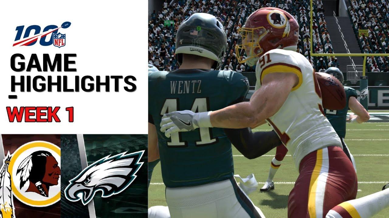Redskins Vs Eagles Week 1 Highlights M20