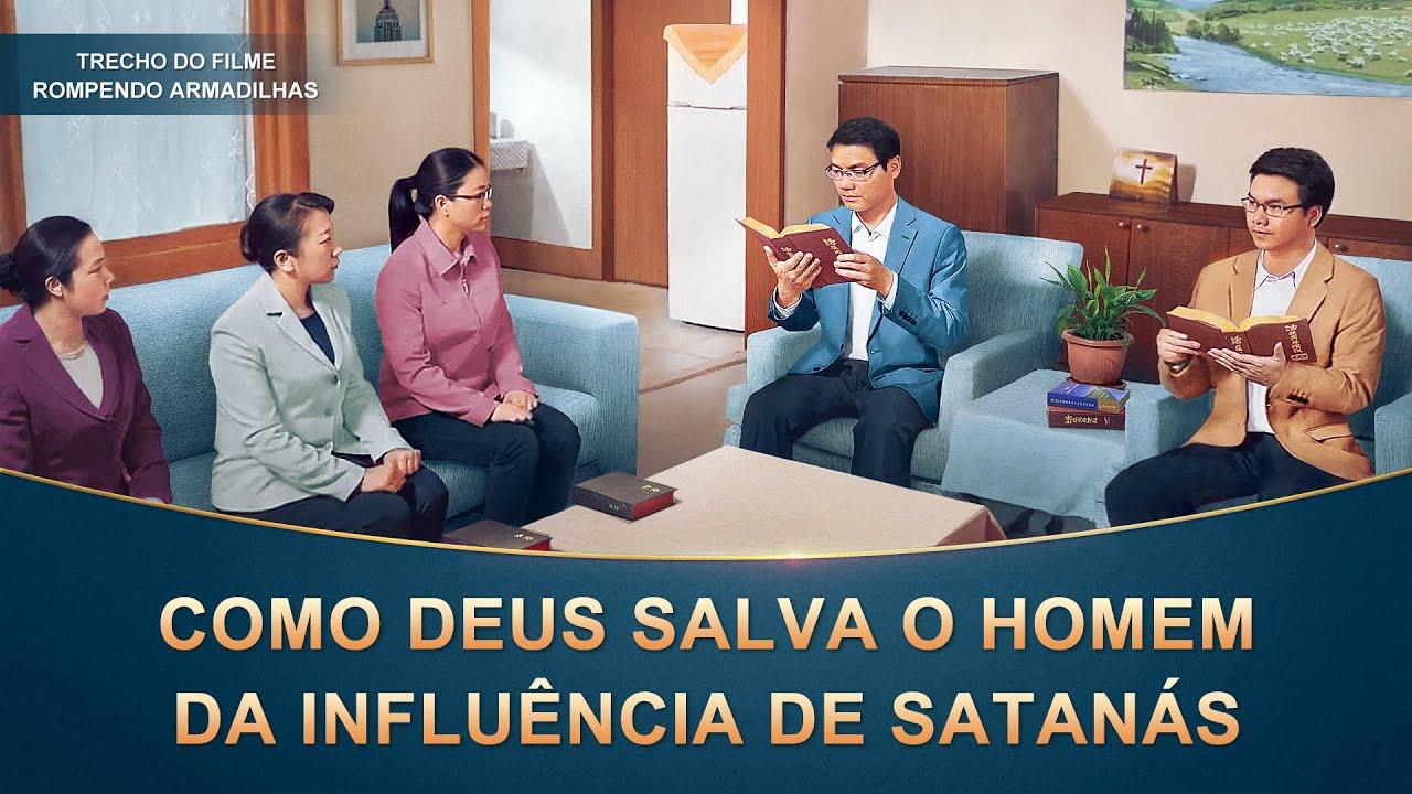 """Filme evangélico """"Rompendo armadilhas"""" Trecho 5 – Como Deus salva o homem da influência de Satanás"""