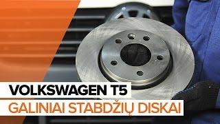 Kaip pakeisti Stabdžių diskas VW MULTIVAN V (7HM, 7HN, 7HF, 7EF, 7EM, 7EN) - vaizdo vadovas