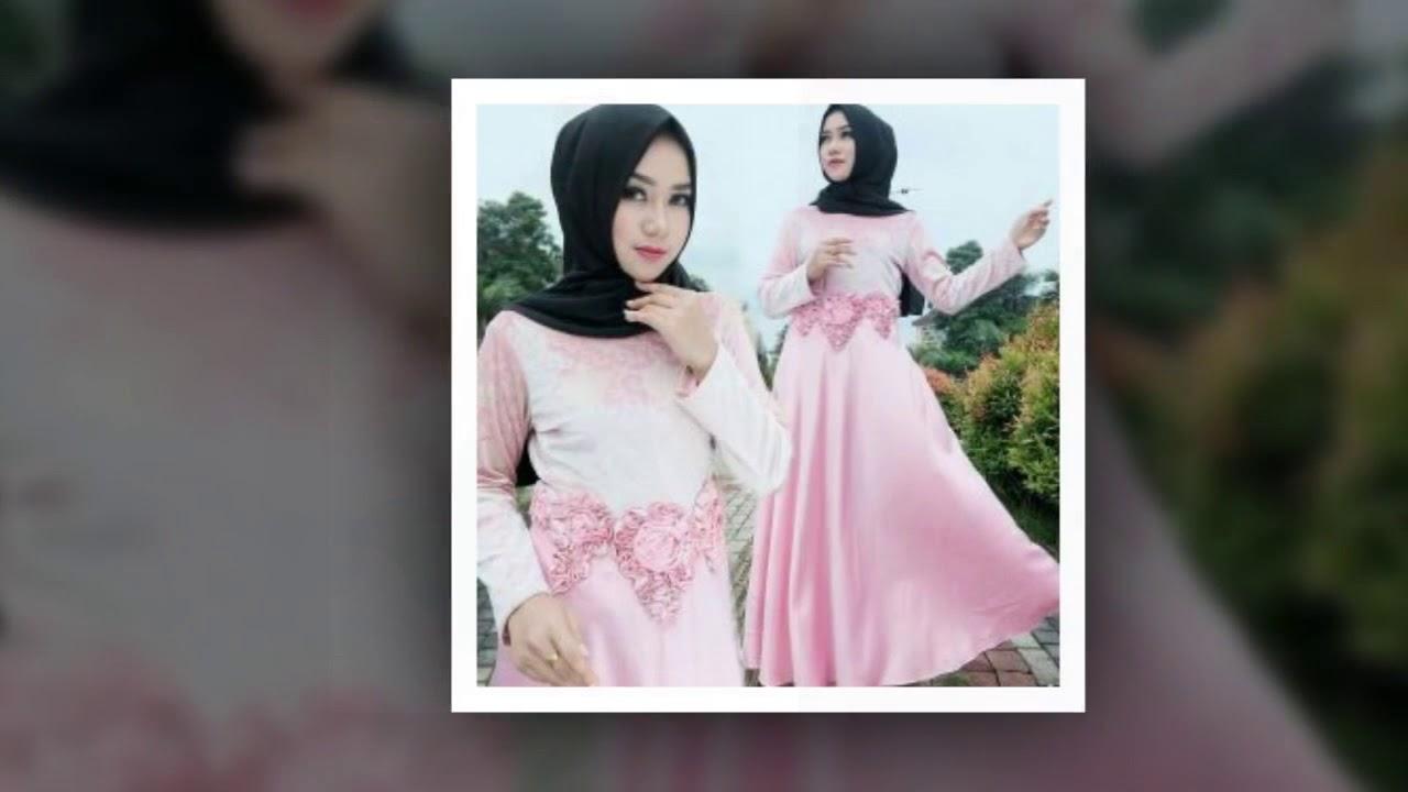 Model Baju Gamis Sifon Terlengkap 2018 Motif Kembang Dan Polos Youtube