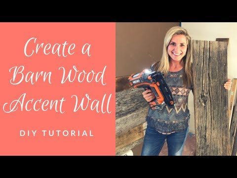 Create a Barn Wood Accent Wall