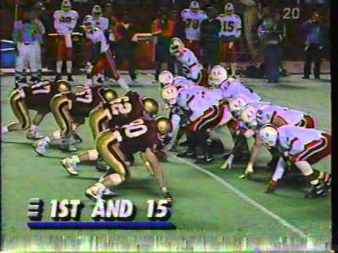 Miami 19 Boston College 14 - November 23, 1991