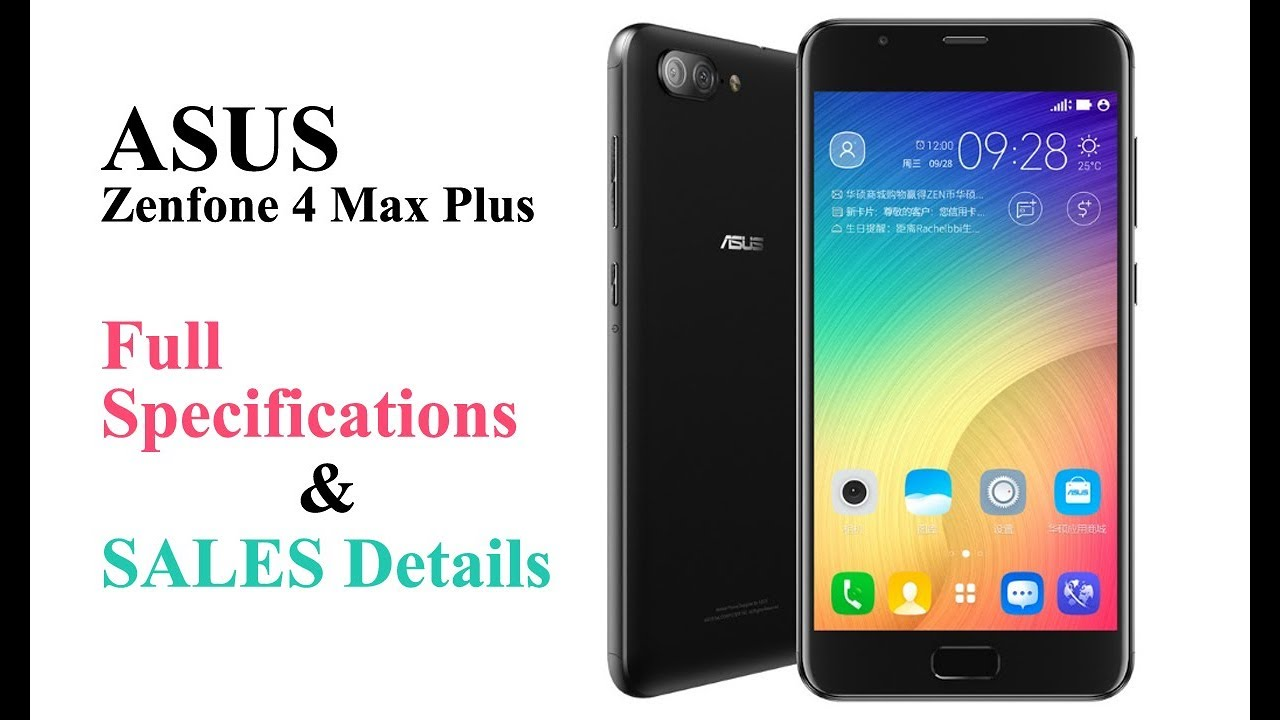 ASUS Zenfone 4 Max Plus ZC550TL X015D Full Specifications ...