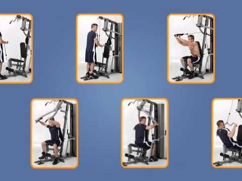 De vez en cuando revisión seré fuerte  46 Marcy Diamond 200 Pound Stack Home Gym - YouTube