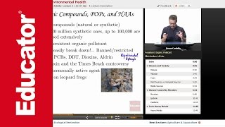 """Pollution & Environmental Health"" | AP Environmental Science with Educator.com"