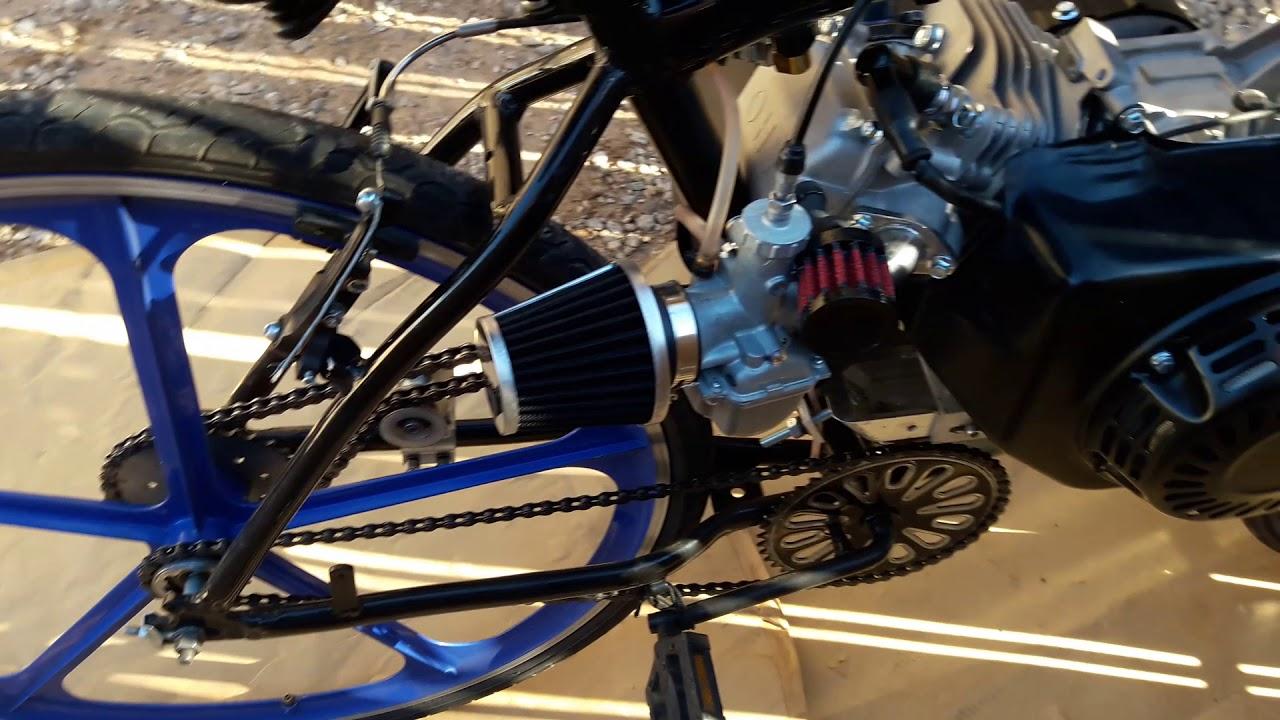 212cc on gas tank bike frame by Joseph Godinez