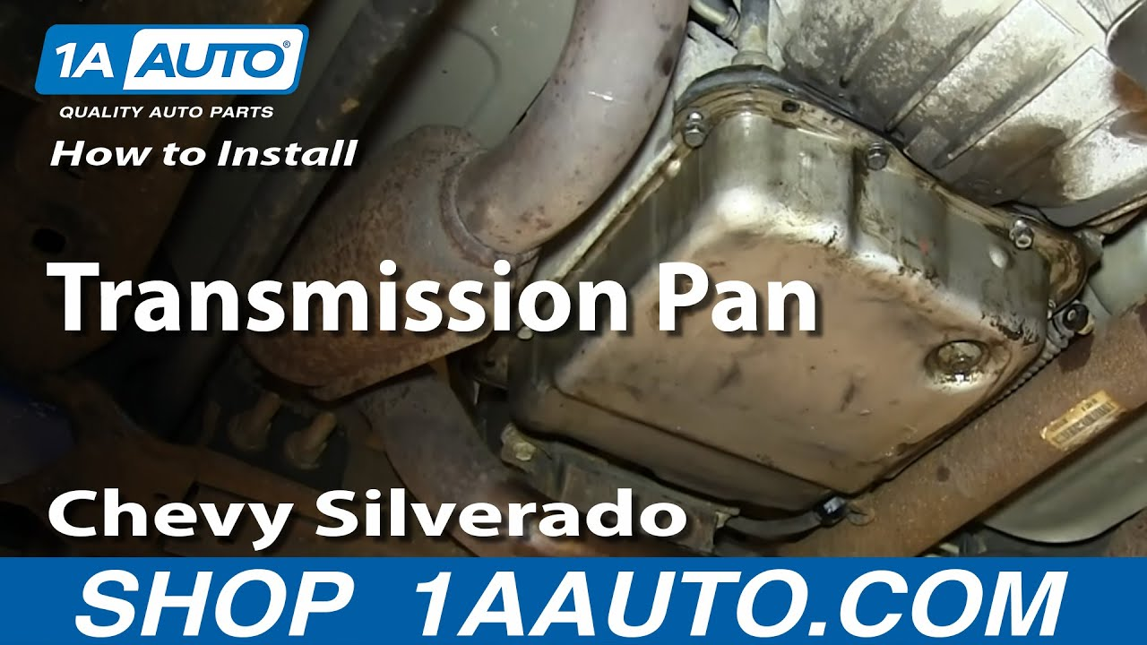 how to install replace transmission pan 5 3l 4l60e 2000