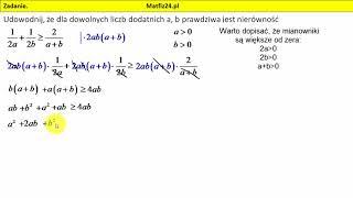 Zadanie 28. Matura 2018 matematyka. Dowód ze wzorami skróconego mnożenia | MatFiz24.pl