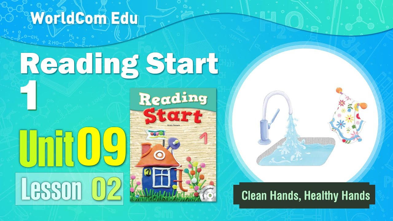 Learn English through Stories | Reading Start Level 1 | Unit 09-2 I Clean Hands, Healthy Hands