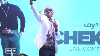 CHEKA TU (S01EP4) COMEDY BORA YA MWAKA 2017  MC WILLY KATIKA STAGE YA CHEKA TU