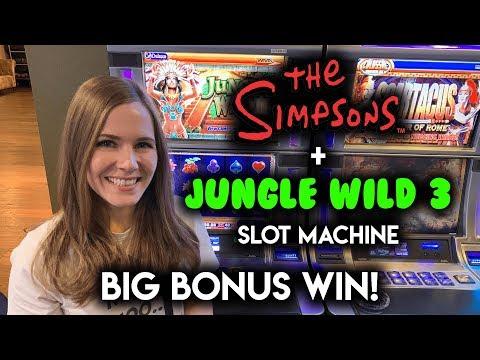 BIG BONUS WIN! Jungle Wild 3 Slot Machine!! WOW This Game Has HUGE Potential!!