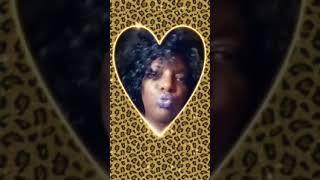Beautiful Black Women Gold Heart .