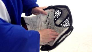 How To Break In Goalie Glove │ by: How To Dangle