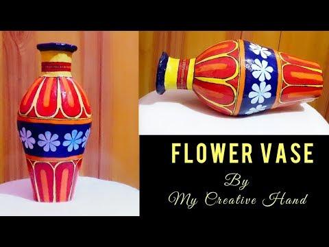 Colourful flower vase making|flower pot|papermache vase|home decor