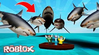 ATACAN A MILLION TIBURONES!! MEGALODON ROBLOX ATTACK 💙💚💛 BE BE BE BE BE BE BE BE BEBE MILO VITA AND ADRI 😍 AMIWITOS