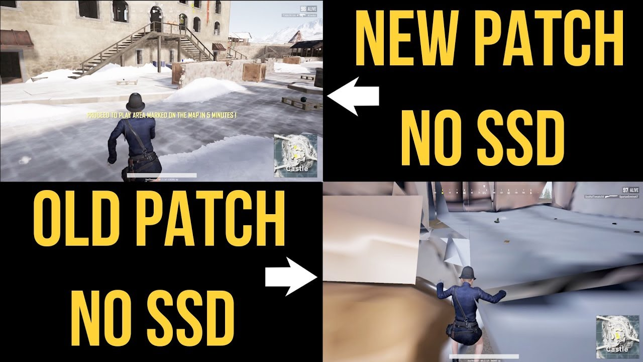 RENDERING FIXED ON PUBG XBOX/PS4? Pre-update vs Post-update footage (no SSD)