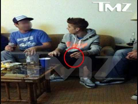 justin Bieber 'smoking suspicious cigarette' tragic photographer's marijuana claims
