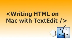 HTML Tutorial Using Text-Edit (With Mac)