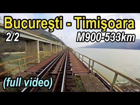 Bucuresti-Timisoara 2/2 full rearview-Trainride-Zugfahrt