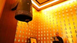 Buddhist monastery bell sounds for world peace 2013
