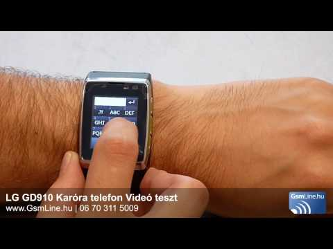 LG GD910 Karóratelefon Videó teszt | GsmLine.hu