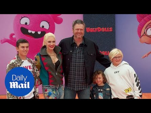 Gwen Stefani And Blake Shelton With Kids At UglyDolls Premiere
