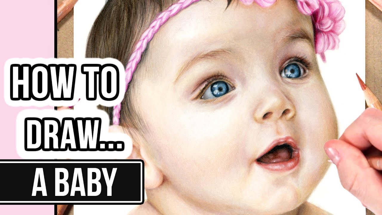 How To Draw A Face In Coloured Pencil Baby Portrait Drawing