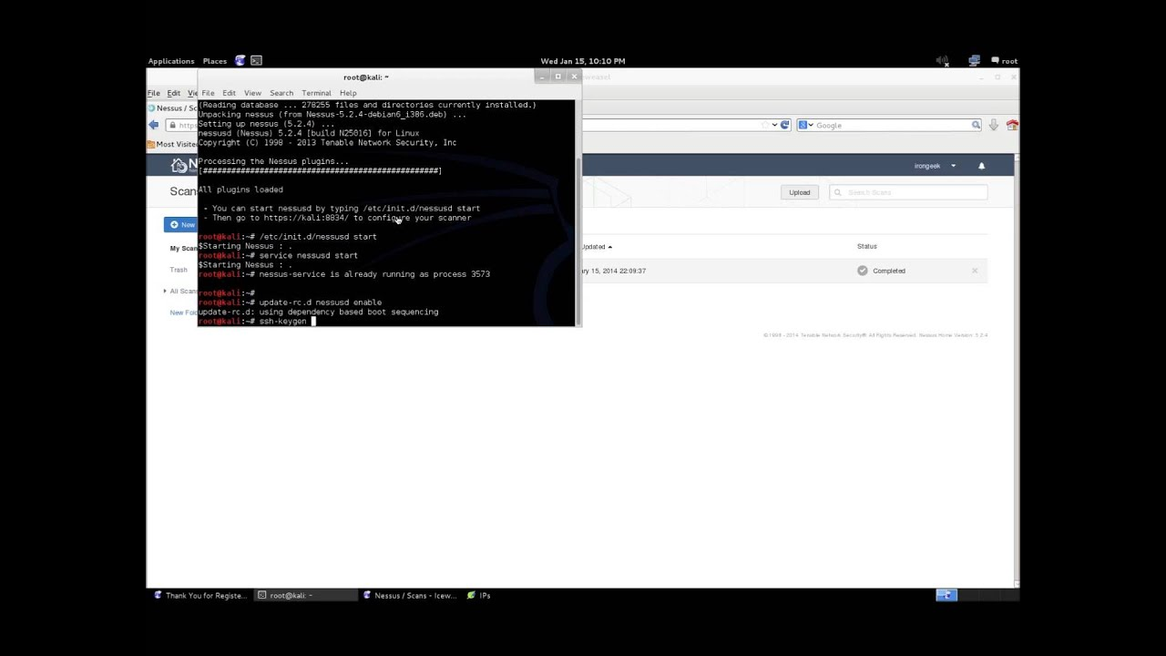 Installing Nessus on Kali Linux and Doing a Credentialed