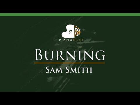 Sam Smith - Burning - LOWER Key (Piano Karaoke / Sing Along)