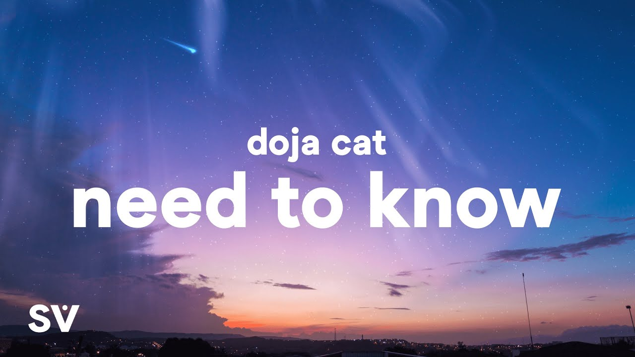 """Download Doja Cat - Need To Know (Lyrics) """"you're exciting boy come find me"""""""