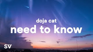 """Doja Cat - Need To Know (Lyrics) """"you're exciting boy come find me"""""""