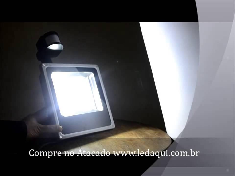 REFLETOR com SENSOR de PRESENA  YouTube