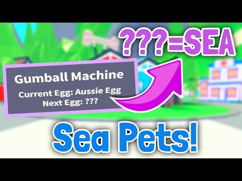 Is The Next Egg A Sea Egg Sea Pets Adopt Me Update Leaks Youtube