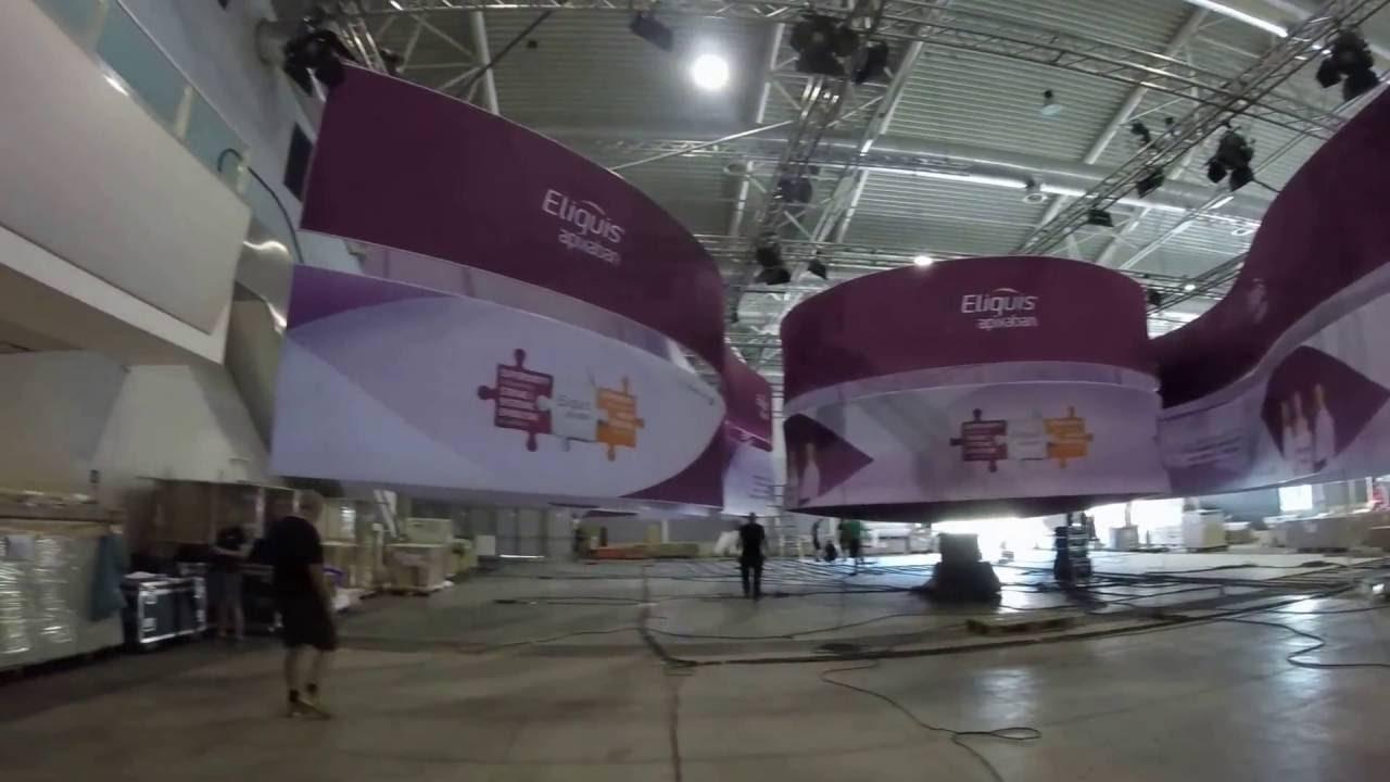 Exhibition Stand Build Up : Exhibition stand build up show day esc congress rome